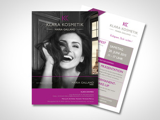 Klara Kosmetik – Einladungsflyer