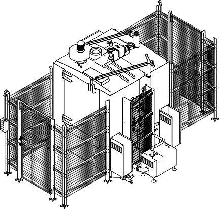 Lavatrice a tunnel per vagonetti standard 200 litri
