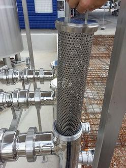 Filtro in linea per carico da cisterna