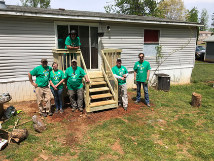 BLESS Build team construction project