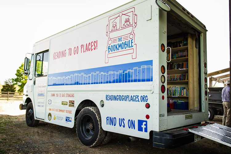 Wonderful partners in the community...the Bookmobile!