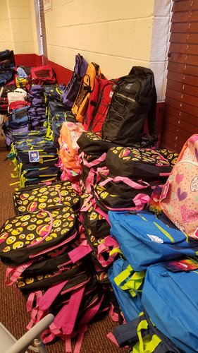 Donated bookbags from Bartow Give a Chance 2019