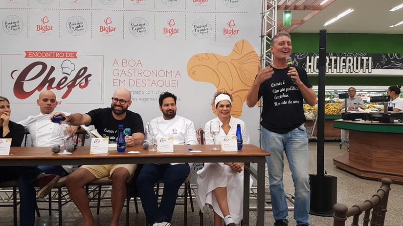 Chefs de cozinha renomados se encontram no Big Lar