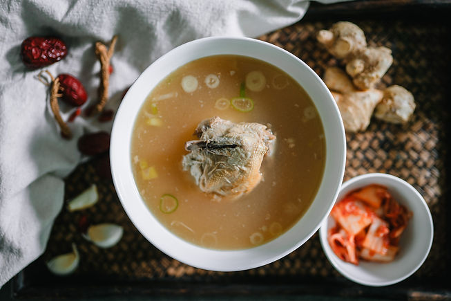 Korean Ginseng Chicken made with Collagen Soup