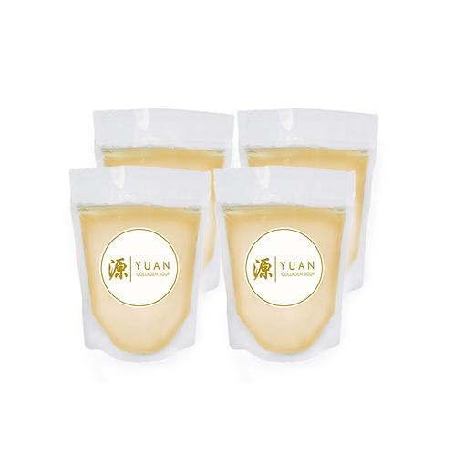 Premium Chicken Collagen Broth (Quadro Pack 4x 500g) Frozen Pack