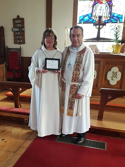 Fr. Malcolm and Lsy Reader Mary Churchil