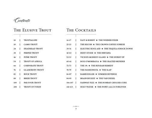 Elusive Trout Book Design