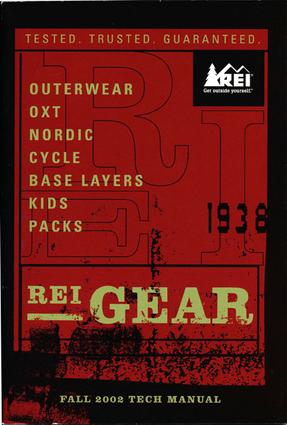 REI Gear Catalog design