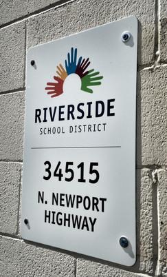 Riverside SD Exterior Signage