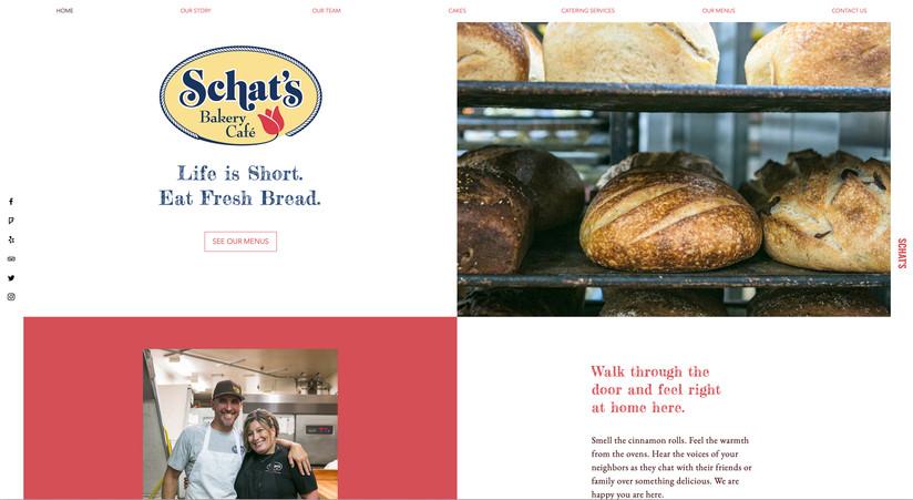 Schat's Bakery Website Design