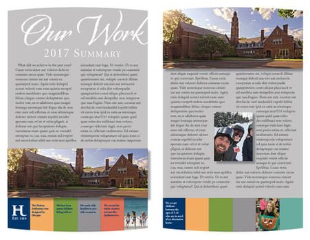 Hutton Settlement annual report spread