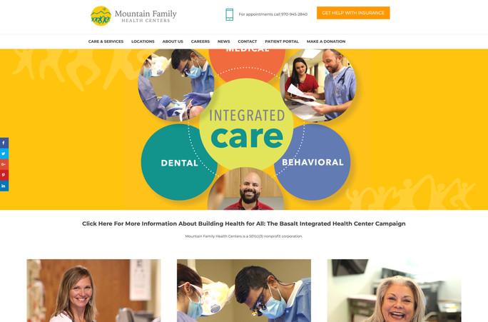 Mountain Family Health Centers website design, brand building, logo design