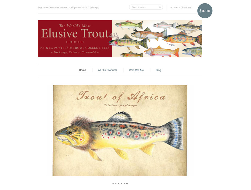 Elusive Trout Website Design