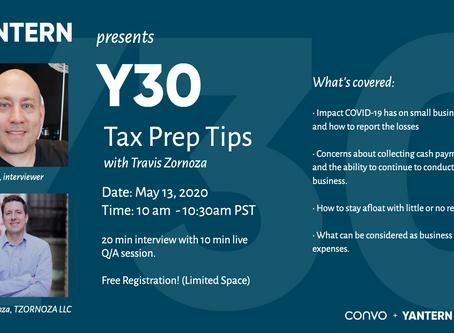 Y30: Tax Prep Tips