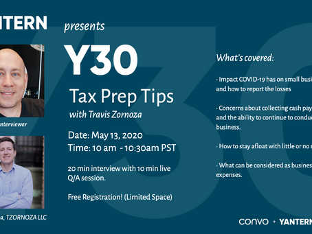Y30: Tax Prep Tips