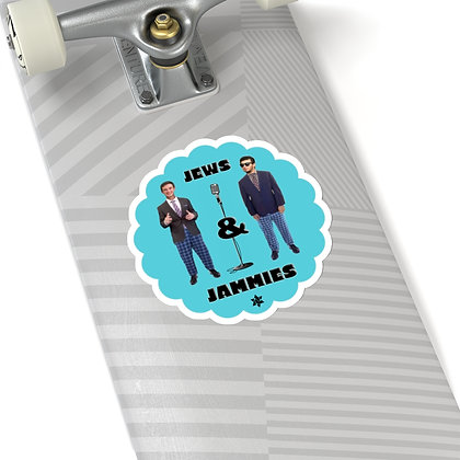 Jews and Jammies Logo Sticker
