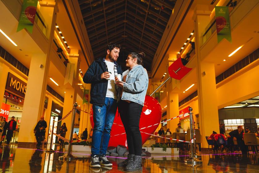 Loving couple at Dalma Garden Mall