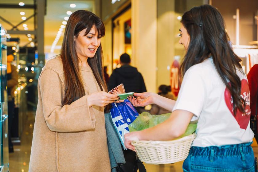 Sharing sweets at Dalma Garden Mall