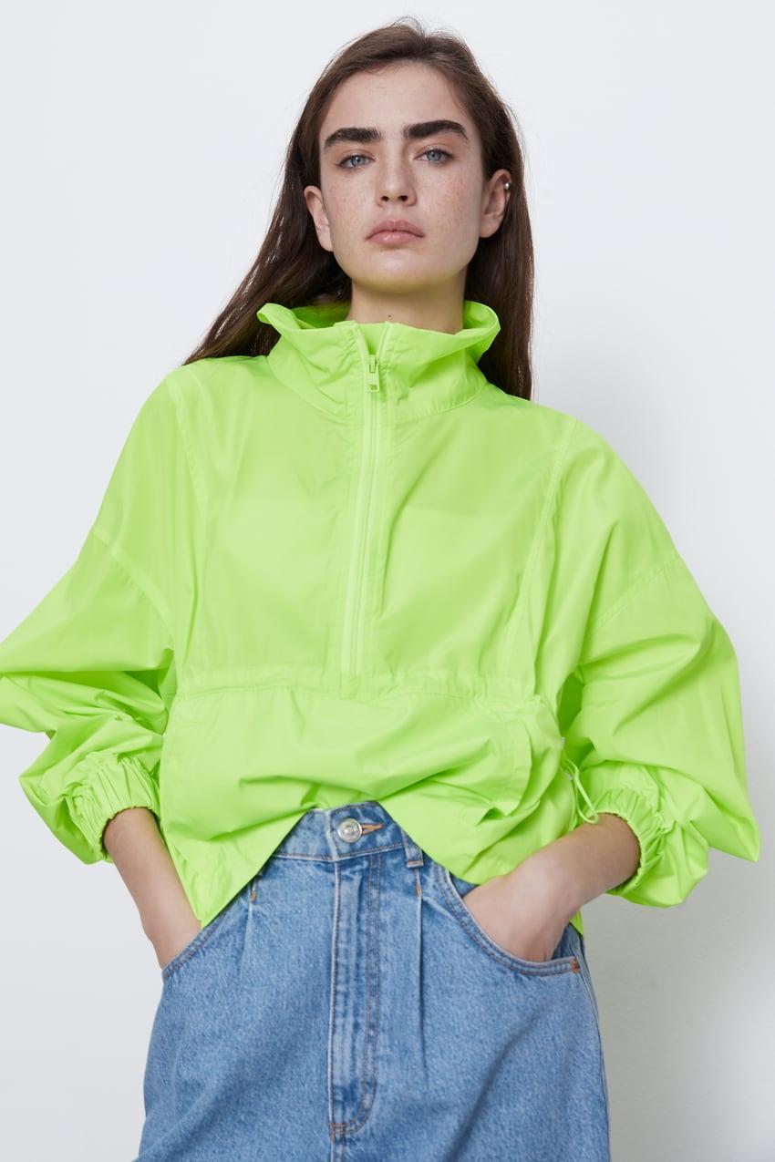 Neon spring raincoat
