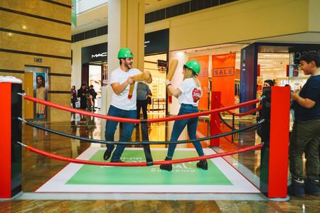 Playing games at Dalma Garden Mall