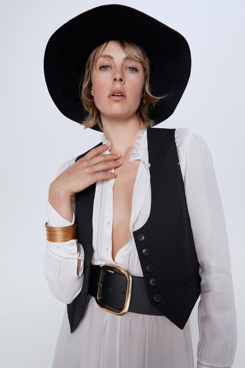 Zara black waistcoat