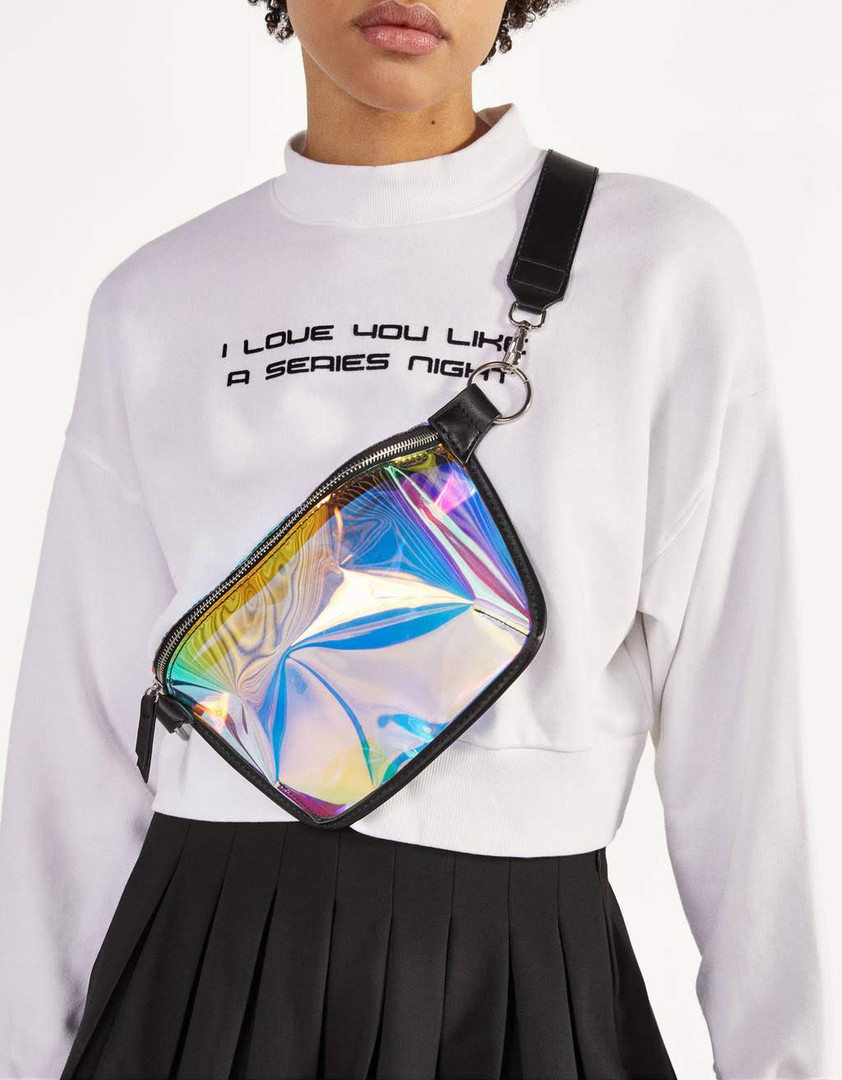 Multicolored belt bag