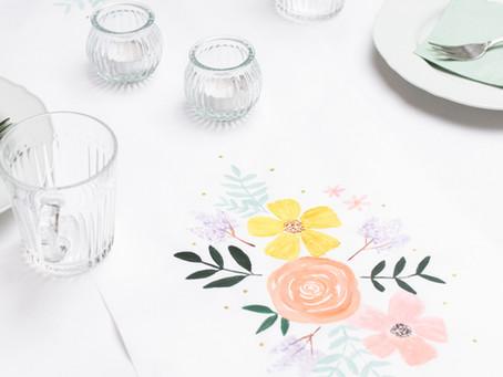 DIY Blumen-Tischläufer