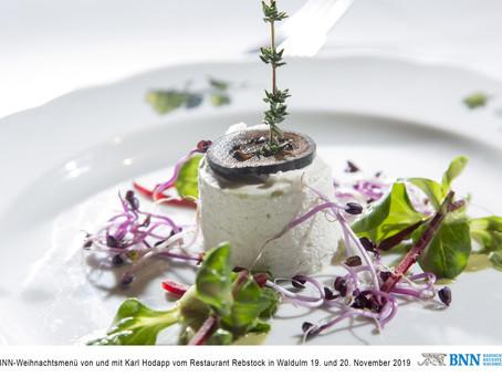 Mousse von Rahmkäse & Gorgonzola                                  mit schwarzer Walnuss