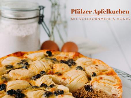 Pfälzer Apfelkuchen                                 mit Vollkornmehl & Honig