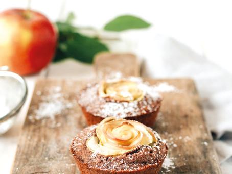 Apfel-Rosen Muffins