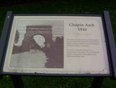 Chapin Arch sign