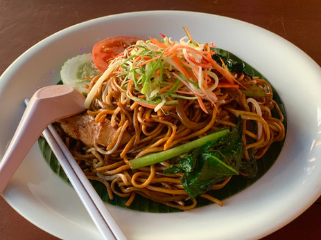 Mee Goreng served with Chicken