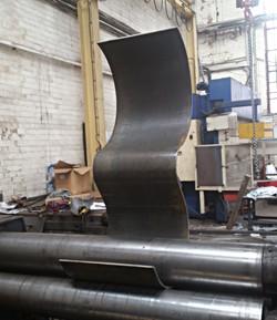 Rolling the steel in Sheffield