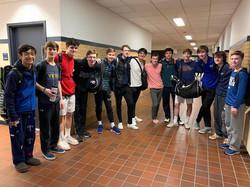 Darien Boys squash team at Yale 2019