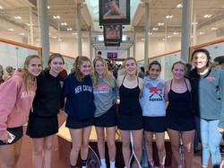 New Canaan Girls Varsity squash team at
