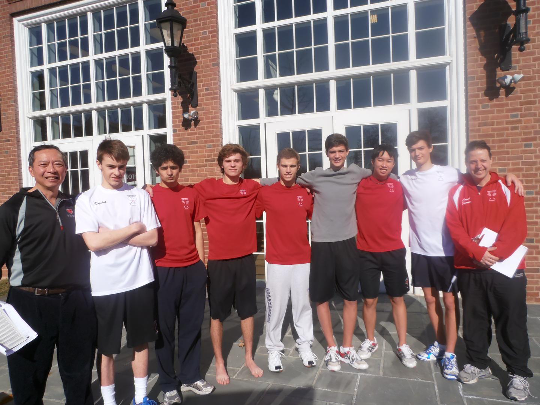 Greenwich High School squash A team at the US Squash Nationals 2012.