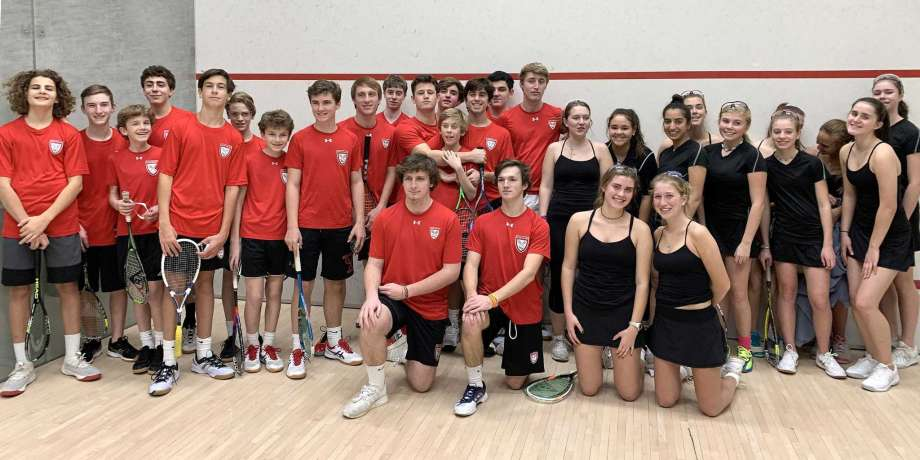 New Canaan High School squash team 2019/2020.