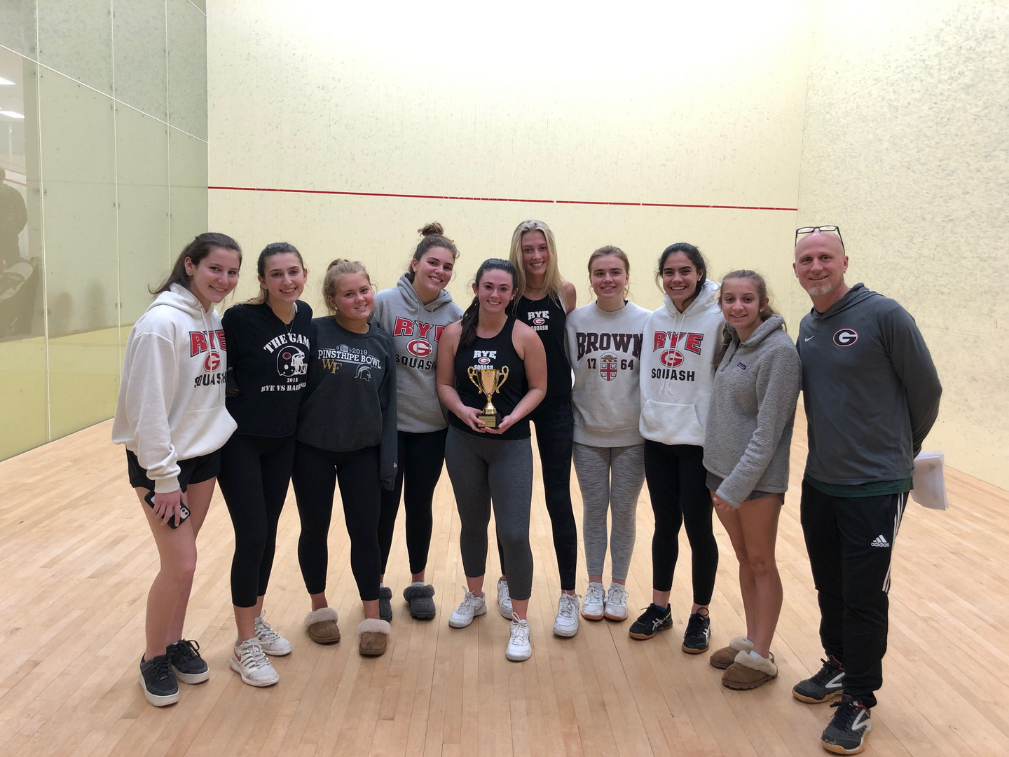 Rye High School squash C team winners of Div 3 at the FairWest Cup 2019/2020 season.