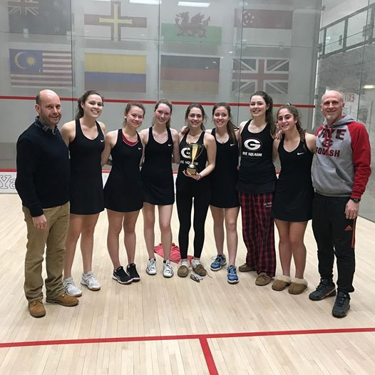 Rye Varsity Girls squash team FairWest C