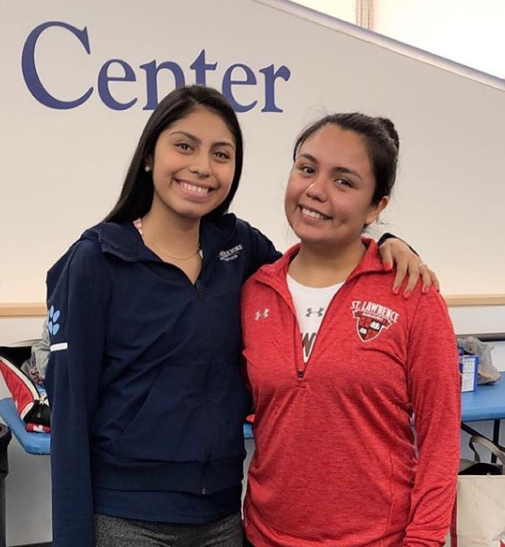 Leslie Portillo (Mount Holyoke College) and Alexandra Matamoros (St. Lawrence University) played at