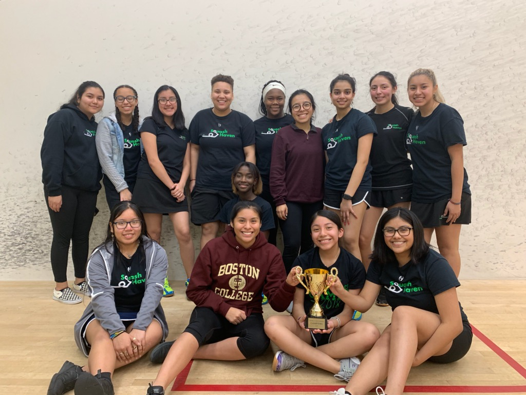 New Haven (Squash Haven) Varsity team - winners of the Girls FairWest Cup 2019/2020 season