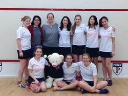 Greenwich High School Girls squash team at US Squash Nationals 2013.