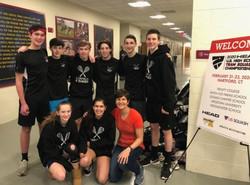 Fairfield Boys High School Varsity team at the US Squash High School Nationals 2020.