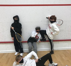 New Canaan Middle School squash getting