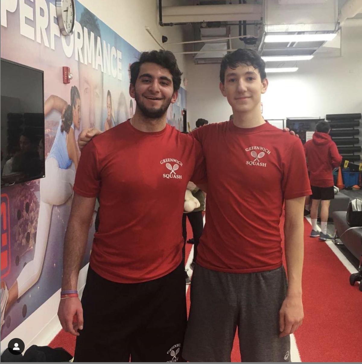 GHS B squash team members Zane Khader (2