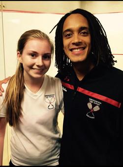 Natasha Feenstra with Alister Walker