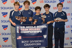 Bronxville Middle School A team Div I winners 2015