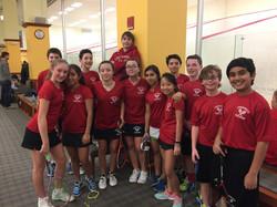 Greenwich Middle School squash team 2018