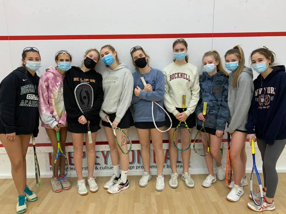 New Canaan Girls Varsity Squash team 202