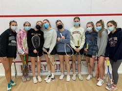 New Canaan Girls Varsity Squash team 202